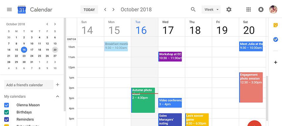 budget calendar